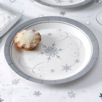 Shimmering Snowflake - Paper Plates (8)